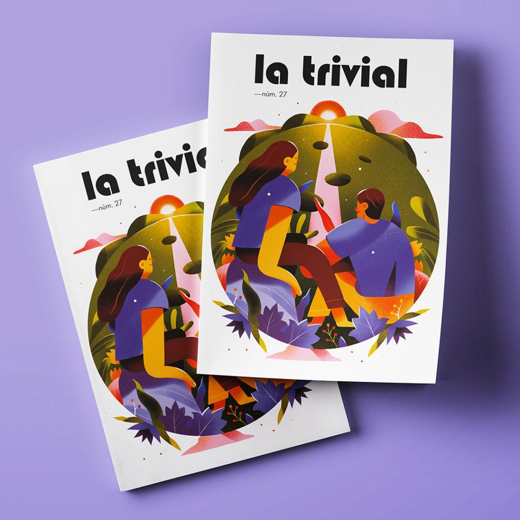 """Portada para la revista de divulgación política """"La Trivial"""" en su número 27."""