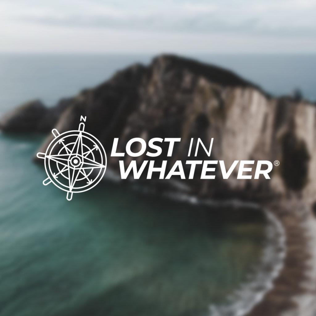 Logotipo de la marca Lost in Whatever (una brújula que indica el norte)