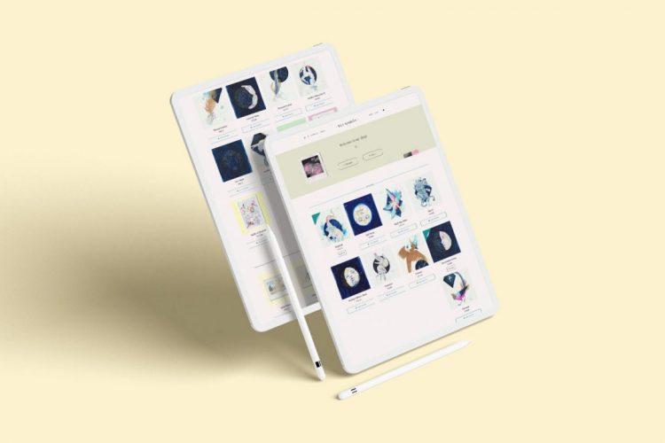 Simulación en dos iPad del portfolio de eligarcia.me