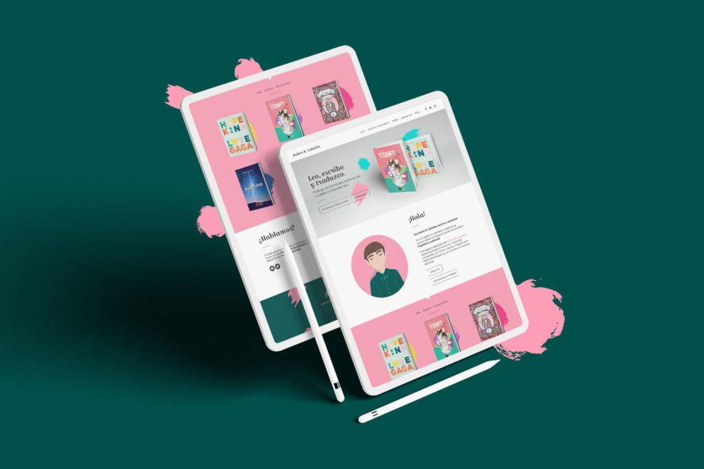 Dos iPad con la web rubenrcubiella.com