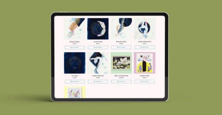 Simulación en un iPad de la tienda online de eligarcia.me
